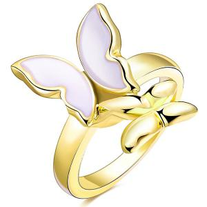 Butterfly Enamel Polished Alloy Ring
