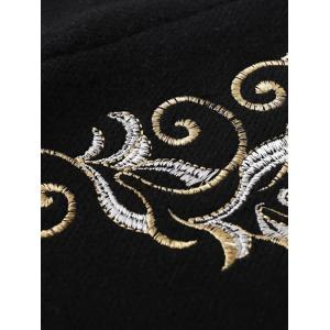 Stand Neck Embroidered Cardigan -