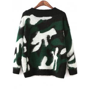 Jacquard Camoflage Mohair Jumper -