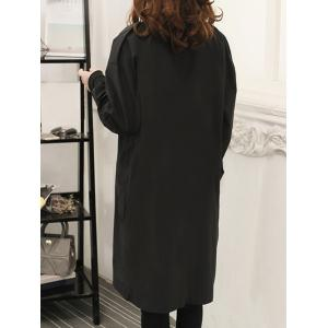 Single Breasted Long Coat With Pocket -
