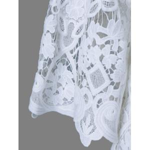 Bell Sleeve Sheer Lace Blouse -