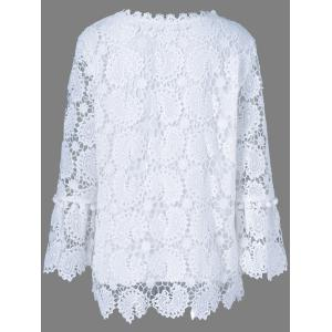 Openwork Sheer Lace Blouse -