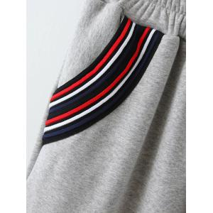 Varsity Striped Fleece Gym Outfits -