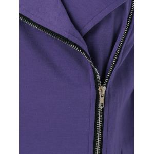 Plus Size Side Zipper Asymmetrical Jacket -