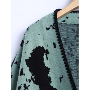 Chinese Painting Woolen Cardigan -