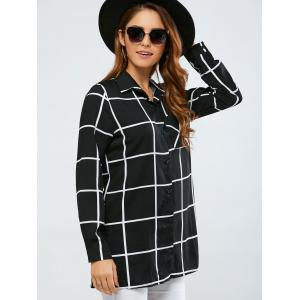 Split Plaid Loose Shirt -