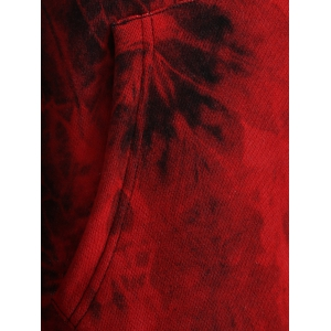 Fit Tie Dye Hoodie - DEEP RED XL