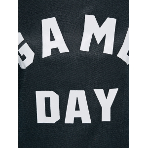 Game Day Print Pullover Sweatshirt - BLACK XL