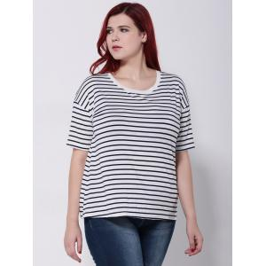 Striped Short Sleeves T-Shirt -