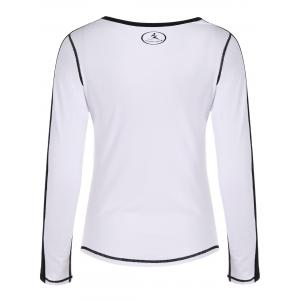 Fit Neon Color  Pullover T-Shirt - WHITE XL