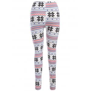 Christmas Snowflake Print Leggings -