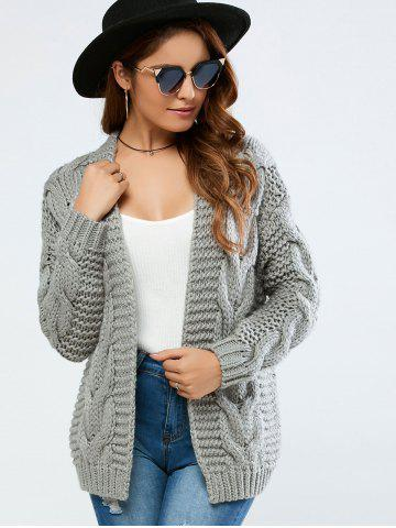 Outfit Cable Collarless Cardigan