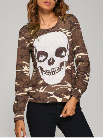 Best Long Sleeve  Skull Camo Halloween T-Shirt