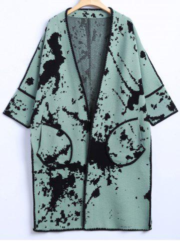Chic Chinese Painting Woolen Cardigan
