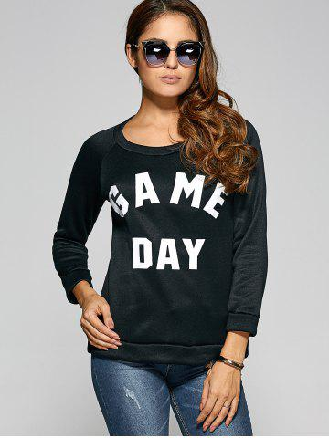 Latest Game Day Print Pullover Sweatshirt BLACK XL