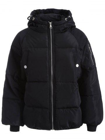 Outfit Zip Up Hooded Puffer Jacket