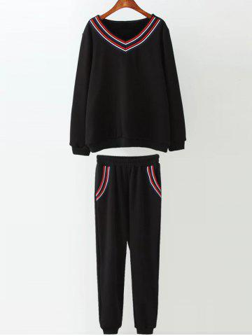 Online Varsity Striped Fleece Gym Outfits