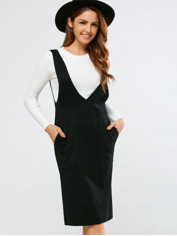 Trendy Double Pocket Brace Dress