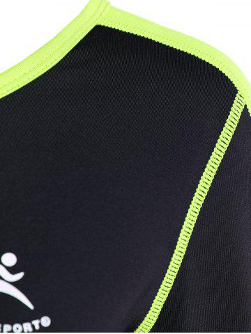 Fashion Fit Neon Color  Pullover T-Shirt - XL NEON GREEN Mobile