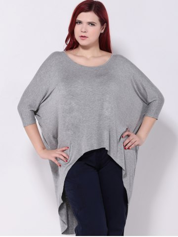 Latest Asymmetric Batwing Sleeves T-Shirt