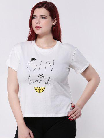 New Cartoon Letter Print Short Sleeves T-Shirt