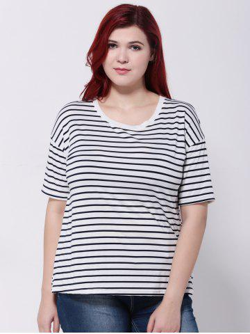 Outfit Striped Short Sleeves T-Shirt