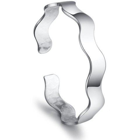 Best Polished Wavy Alloy Cuff Ring