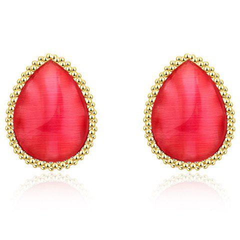Discount Beaded Edge Teardrop Earrings