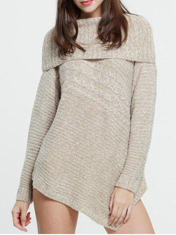 Fancy Foldover Sweater COMPLEXION S