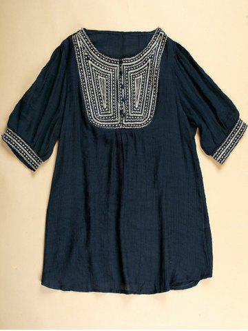 Sale Embroidered Tunic Top
