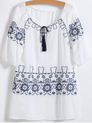 Fancy Embroidered Cotton Dress