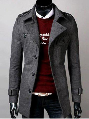 Outfit Belted Lapel Single Breasted Woolen Tweed Coat