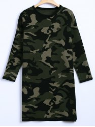 Camouflage Plus Size Sweater Dress -