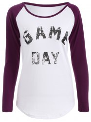 Game Day Print Baseball T Shirt