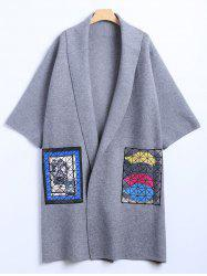 Puzzle Patch Pocket Woolen Cardigan