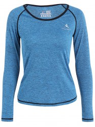 Heather Pullover Gym T-Shirt - AZURE
