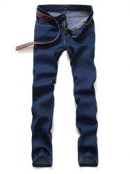 Mid taille Zipper Fly Skinny Jeans -