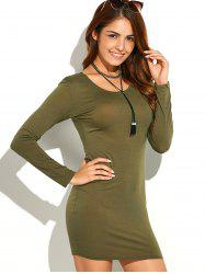 Long Sleeve Bodycon Tee Dress