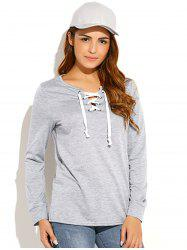 Criss-Cross Pullover Sweatshirt -