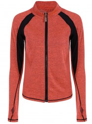 Breathable Heather  Zip Up Sporty Jacket -