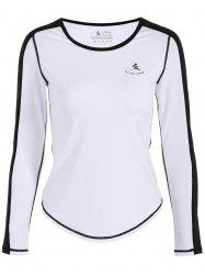Fit Neon Couleur Pullover T-Shirt - Blanc