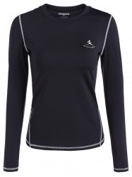 Fit Long Sleeve Gym T-Shirt - BLACK