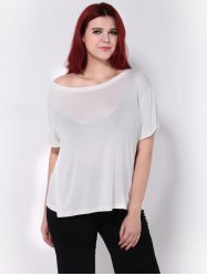 Skew Neck Short Sleeves T-Shirt
