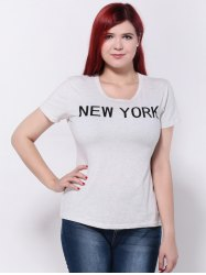 New York Print Slimming T-Shirt