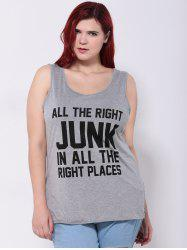 Plus Size Letter Print Tank Top -