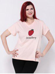 Strawberry Print Short Sleeve T-Shirt