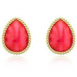 Beaded Edge Teardrop Earrings -