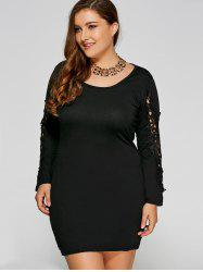 Lace Insert Plus Size Bodycon Dress