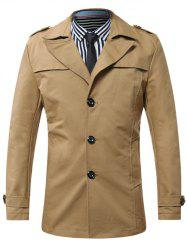 Turn-Down Collar Single-Breasted Epaulet Coat