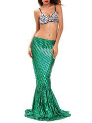 Hallowmas Costumes Mermaid Skirt With Bra